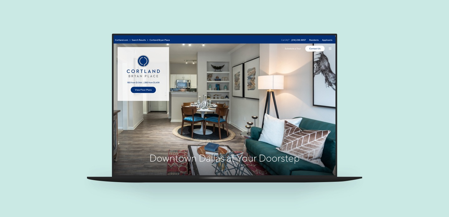 Cortland Exclusive Theme on Desktop
